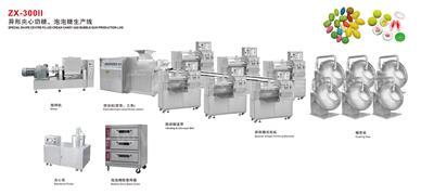 ZX-300II 异形夹心奶糖、泡泡糖生产线